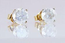 Diamond Earrings 1Ct Diamond Studs 14Kt Yellow Gold