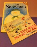 Vintage children books. The Snowman1980, Katie Morag 1986 (Paperback used)