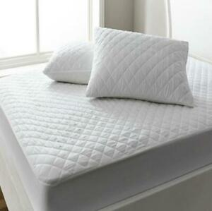 LUXURY QUILTED MATTRESS PROTECTOR - Extra Deep Topper Dual Layer Bed Fitted