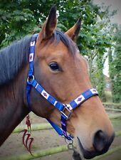 KM Elite Polo Argentinian Head Collar Royal Blue, Navy, Blush Pink Cob & Full