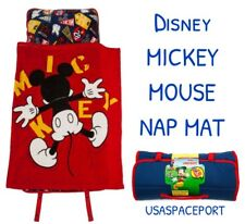 Disney Exclusive Mickey Mouse NAP MAT Toddler Daycare Preschool BLANKET + PILLOW
