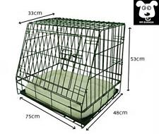 "Folding metal dog crate with sloped sides car transport dog cage 30"" puppy crate"