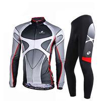 Men Bike Clothing Sets Cycling Jersey &Bicycle Long Pants Winter Fleece Thermal