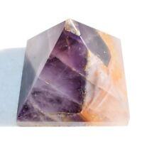 [1] Himalayan Amethyst Crystal Hand-Carved Pyramid Reiki ZENERGY GEMS™