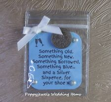 A LUCKY SIXPENCE BRIDE {GIFT} WEDDING FAVOUR..ANY NAME CAN BE ADDED