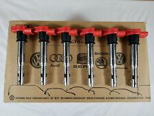 🔥New Genuine OEM Audi Volkswagen 06E905115G Red Ignition Coil Packs Set of 6🔥