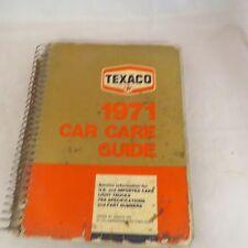 Texaco 1971 Car Care Guide