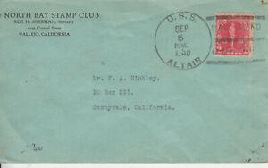 RAREX3: STAMP CLUB VALLEJO,CALIF;USS ALTAIRMARE ISLAND;LABEL 3RD STAMP SHOW 1939