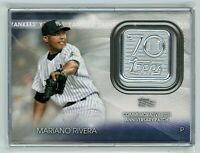 2021 Topps MARIANO RIVERA 70th Anniversary Patch Card #70LP-MR (Yankees) HOF