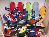 U Pick your Team 1 NFL Football Team Color Slide SLIPPERS Forever adult Sz S-XL