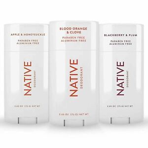 Native Deodorant - Natural Deodorant For Women and Men - 3 Pack - Contains Probi