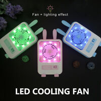 Mini Portable Rechargable Handheld LED Light Desk USB Air Cooler Cooling   *