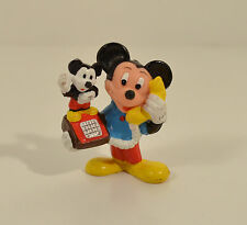 """Vintage Mickey Mouse on Mickey Phone Telephone 2"""" PVC Action Figure Applause"""