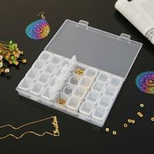 28 Solt Diamond Painting Accessories Earring Storage Box Transparent Container