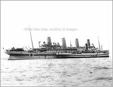 Photo Print: HMHS Britannic & Supply Ship Galeka At Mudros, WWI, 1916