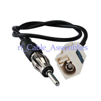 "NEW Aerial Antenna Adaptor FAKRA ""B"" female to AM/FM antenna male cable RG174 4M"
