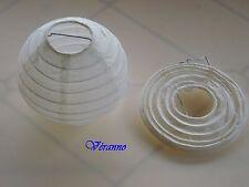 Boule en papier ivoire x2 diam.10cm. Décoration mariage, baptême.