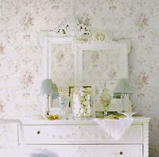 Traditional Vintage Victorian Designer Floral Flower Pink Purple Tan Wallpaper