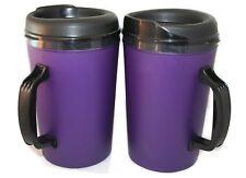 2 Foam Insulated 34 oz ThermoServ Travel Mugs Purple