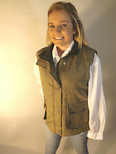 Tweed Waistcoat Ladies Made in England With Matching Flat Cap Green Gift Set 14 62cm XXXL