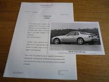 Porsche 968 comunicado de prensa 1993 mi folleto Jm