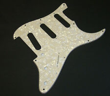Dragonfire Strat Floyd Rose Pickguard SSS, 3 Ply Aged Pearl, Fits Fender