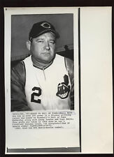Original 1972 Early Wynn Indians Makes HOF Wire Photo