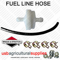 FUEL FILTER WHITE HOSE LINE & 4 CLIPS GENUINE BRIGGS & STRATTON 394358 NEXT DAY