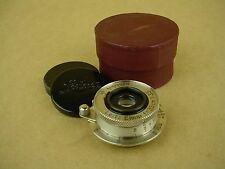 Leica SM 3.5cm f/3.5 Leitz Elmar Nickel Lens w/Red case-No Serial Number-RARE