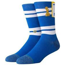 Postura NBA Para hombre Dorado Guerreros del Estado Clásico De Madera Dura Banner Calcetines-Azul/Oro