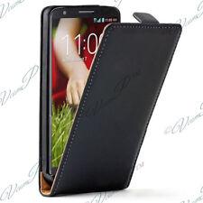 Housse Coque Etui PU Vrai Rabat NOIR Cuir Pour LG G2 Mini LTE Dual Sim D618 D620