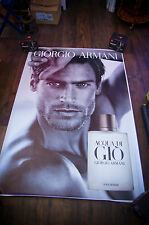 GIORGIO ARMANI JASON MORGAN 4x6 ft Bus Shelter Original Celebrity Fashion Poster