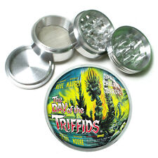 """Vintage Poster D179 Aluminum Herb Grinder 2.5"""" 63mm 4 Piece Day of the Triffids"""