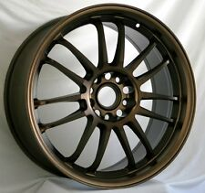 18X8.5 +48 ROTA SVN 5X100 SPORT BRONZE WHEELS Fits Neon Srt4 Forester Outback