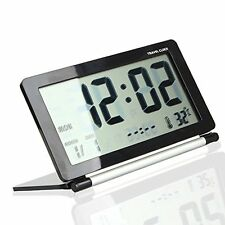 USA 1PC Silent LCD Digital Large Screen Travel Desk Electronic Alarm Clock