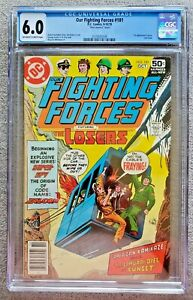 Our Fighting Forces #181 CGC graded 6.0 FN 1978 Bronze Age DC Comic LAST ISSUE