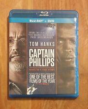Captain Phillips (2013) Like New Blu-ray + DVD Tom Hanks, Barkhad Abdi