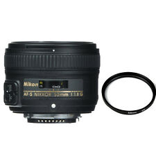Nikon NIKKOR 50mm f/1.8G AF-S Lens for Nikon DSLR Cameras + 58mm UV Filter