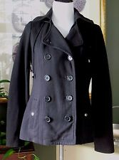 Black Mossimo Supply Co Black Lined Cotton Knit Hooded Coat L