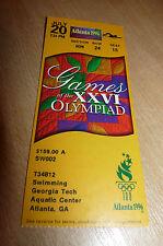 Atlanta 1996 Olympic Games - Swimming - Georgia Tech Aquatic Cente - Used Ticket