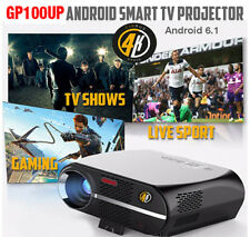 New Model 2018 Cirrus4k GP100UP Android 6.1, Gloss Black TV Projector
