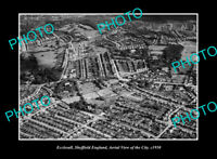OLD LARGE HISTORIC PHOTO ECCLESALL SHEFFIELD ENGLAND TOWN AERIAL VIEW c1950