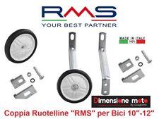 """0090 - Coppia Ruotelline Stabilizzatrici """"RMS"""" per Bici Bimbo 10""""-12"""" Olanda"""