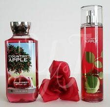 BATH AND BODY WORKS - COUNTRY APPLE - SHOWER GEL N  MIST (SET) - NEW