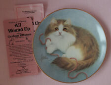 HAMILTON COLLECTION CURIOUS KITTENS 1990 BOB HARRISON ALL WOUND UP LONG HAIRED