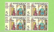 Spain Edifil 2526** MNH  Día del Sello  BLOQUE de 4 B4