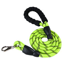 1.5m Nylon Round Reflective Dog Leash with Comfortable Padded Handle Night N8Z7