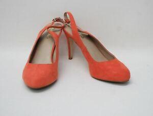 MISS KG BY KURT GEIGER Ladies Orange Suede Leather Slingback Shoes EU40 UK7