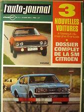 L'AUTO JOURNAL 1970 12 24H DU MANS ESSAI FORD TAUNUS 26M CITROEN SM RAL ACROPOLE