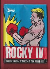1985 Topps Rocky IV  single Wax Pack Drago Wrapper